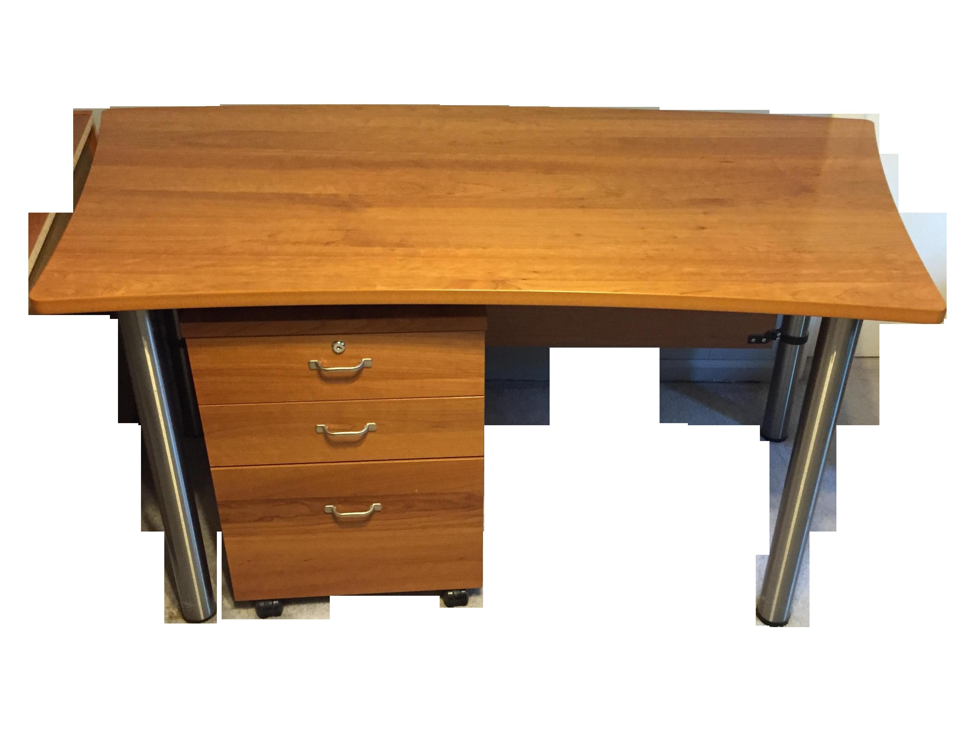 Cherry File Cabinets Boconcept Cherry Desk And File Cabinet Chairish
