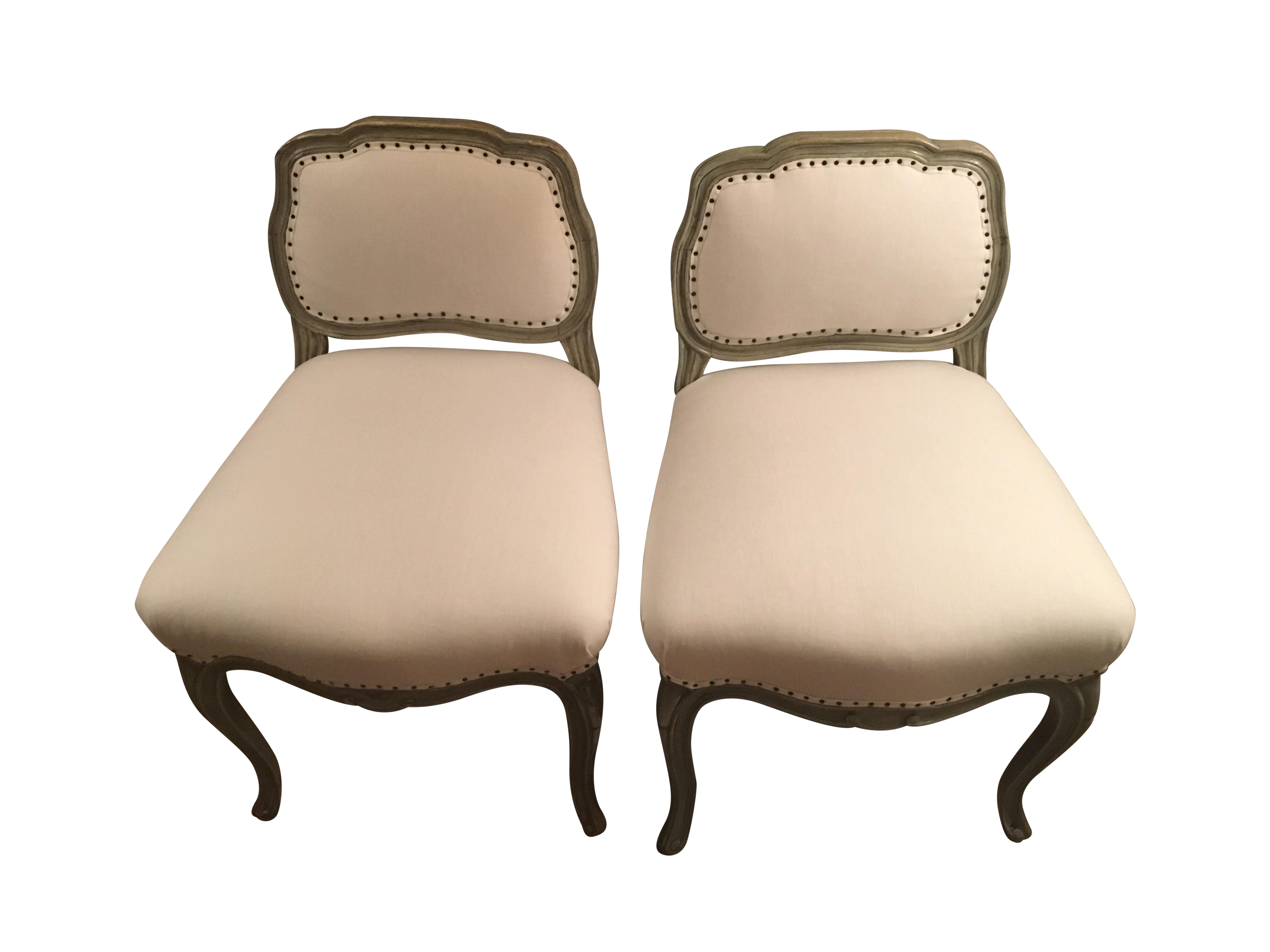 Antique Reupholstered Swedish Chairs A Pair Chairish