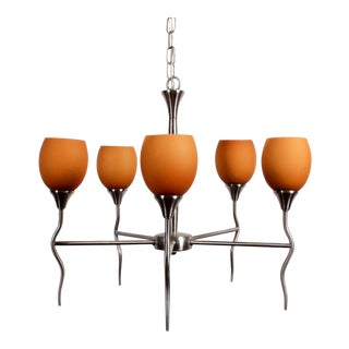 Contemporary 5 Lamp Chandelier