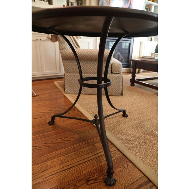 Restoration Hardware Lion's Foot Brasserie Table - Image 3 of 4