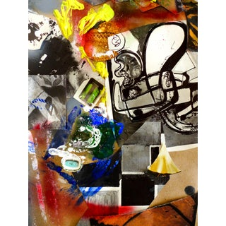 Hans & Otto IV Mixed Media Collage Painting
