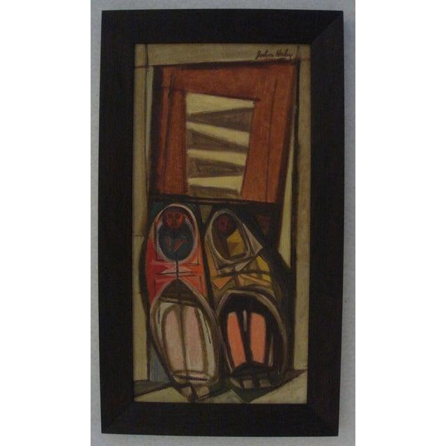 """John Haley """"Navajos at Gallup"""" 1947 Painting - Image 2 of 7"""