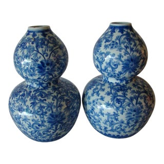 Blue & White Chinese Vases - A Pair