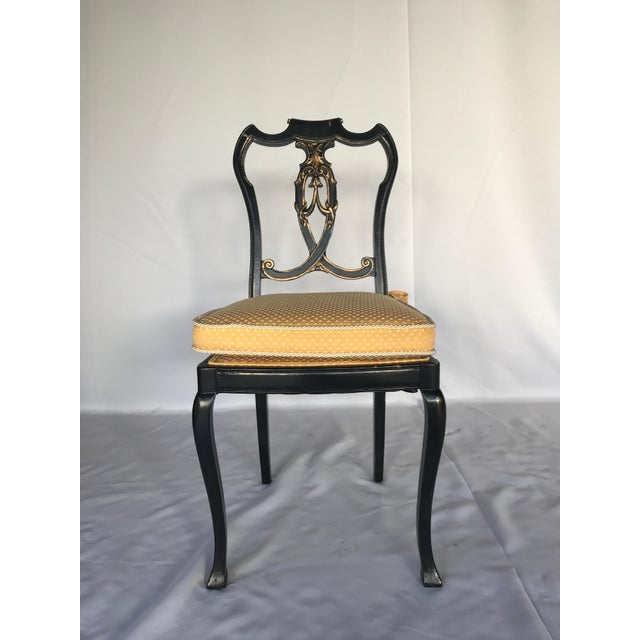 French Chinoiserie Style Writing Desk and Chair Set - Image 2 of 8