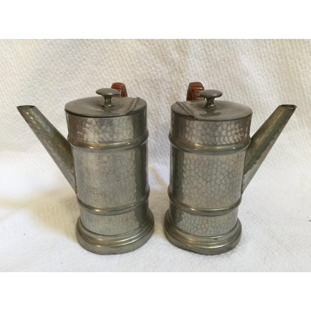 English Pewter Coffee Pots - A Pair - Image 4 of 9