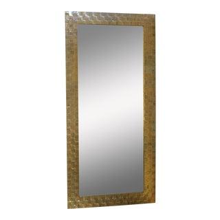 Stylish Mid-Century Brass Mirror