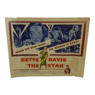 "Vintage Movie Poster ""The Star"" Bette Davis - 1953"