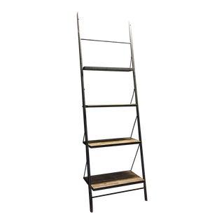 Wood & Metal Ladder Shelf
