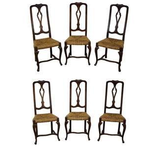 Vintage French Country Dining Chairs - Set of 6