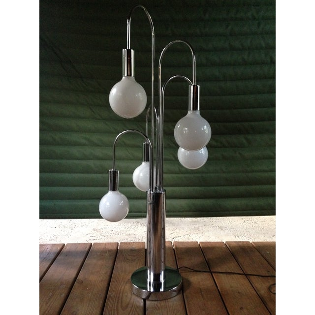 Image of Robert Sonneman Chrome Table Lamp