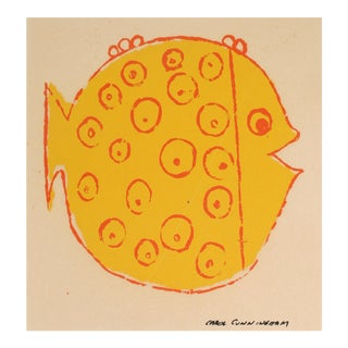 Yellow Fish Serigraph, 1960s