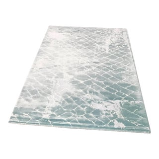 Contemporary Faded Aqua Rug - 5'x8'