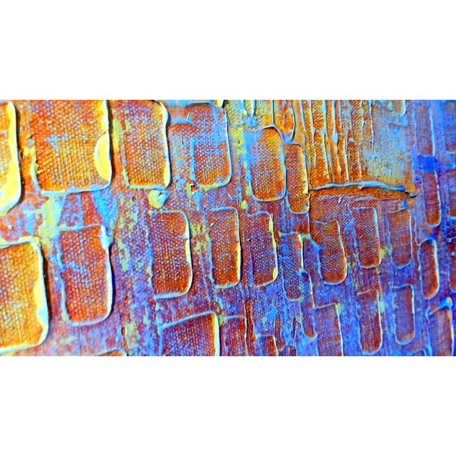 Abstract Expression Drip Action Cityscape Oil Painting - Image 7 of 9
