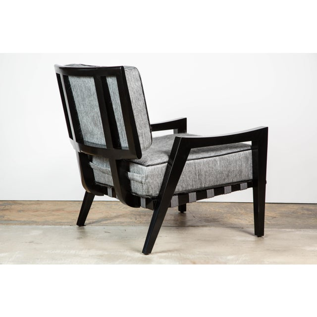 Paul Marra Low Lounge Chair in Black Lacquer - Image 4 of 9