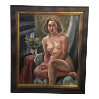 Circa 1920 Framed Nude Painting