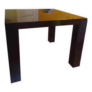 Jonathan Adler Brown Square Lacquer Dining Table