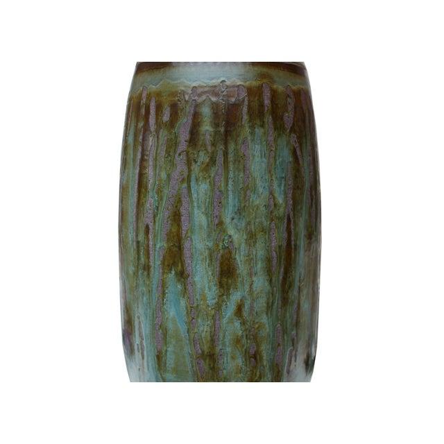 Vintage Matte Drip Glaze Lamp - Image 3 of 4