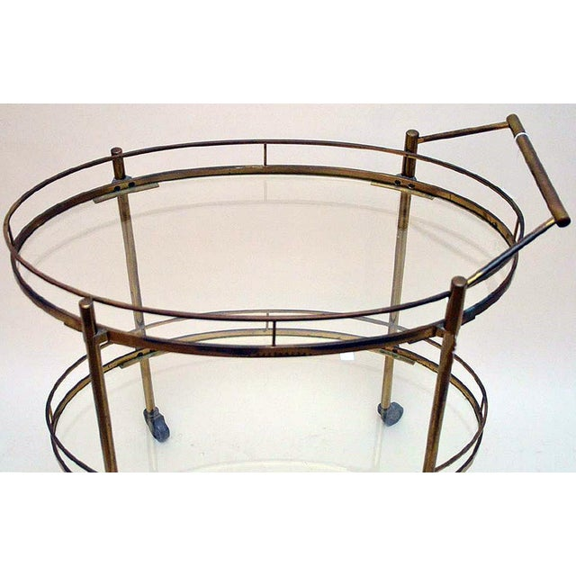 Maxwell Phillips Brass Two-Tier Tea Cart - Image 2 of 6