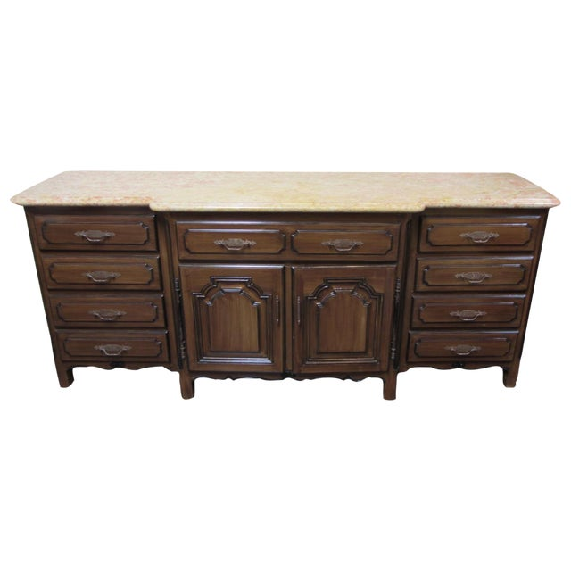 French Traditions Marble Top Buffet - Image 1 of 10