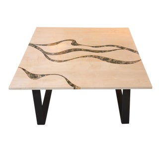 Artisan Made Maple and River Rock Coffee Table