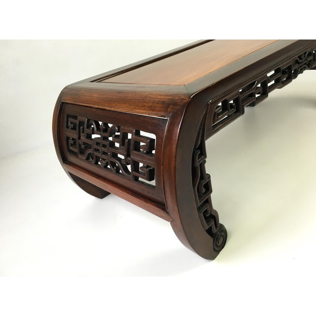 Antique Chinese Coffee Tables: Antique Chinese Carved Rosewood Kang Coffee Table