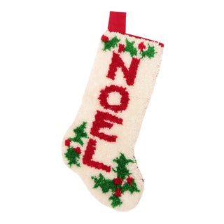 Latch Hook NOEL Christmas Stocking