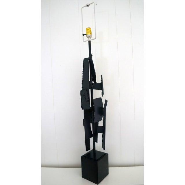 Brutalist Torch Cut Harry Balmer Lamp - Image 3 of 7