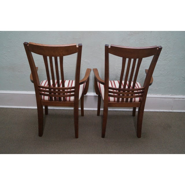 Image of Bermex Traditional Maple Wood Dining Chairs - 6