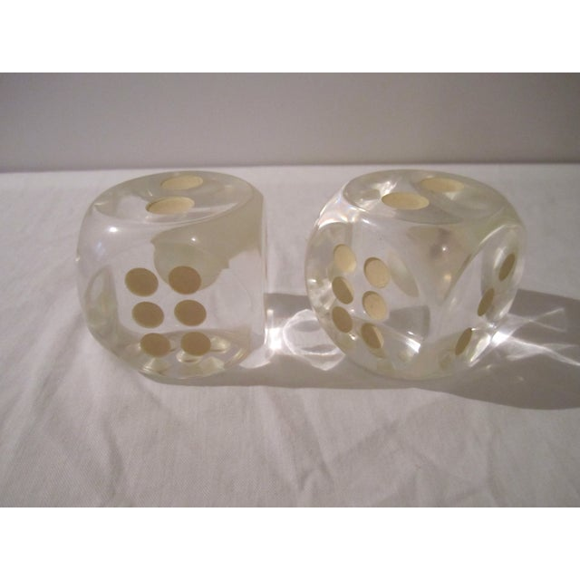 Vintage Lucite Dice - A Pair - Image 5 of 5