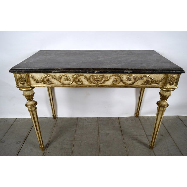 French Louis XVI-Style Giltwood Console - Image 2 of 10