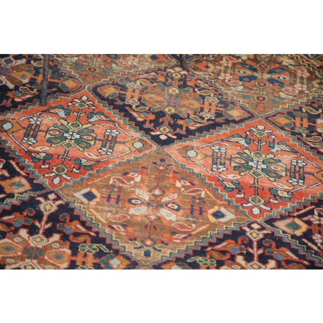 """Antique Distressed Afshar Square Rug - 4'4"""" X 5'7"""" - Image 9 of 9"""