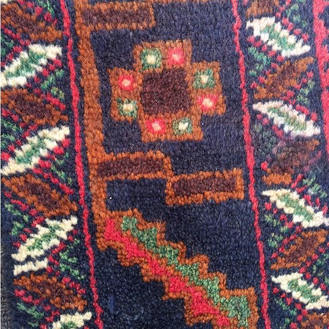 "Red Baluchi Persian Rug - 2'10"" x 4'4"" - Image 7 of 8"