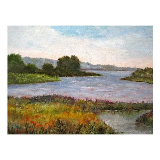 Image of Dawn Tyler Painting - Connecticut Marsh