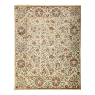 "Suzani, Hand Knotted Traditional Wool Area Rug - 8' 2"" X 10' 3"""