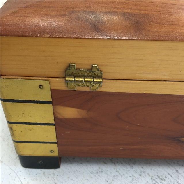 Deco-Style Cedar Keepsake Box - Image 11 of 11