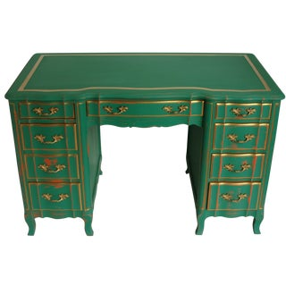 Vintage 9-Drawer Provincial Desk