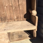 Image of 18th Century English Pine Curved Settle Bench