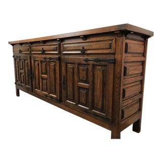 Vintage Oak Sideboard Cabinet