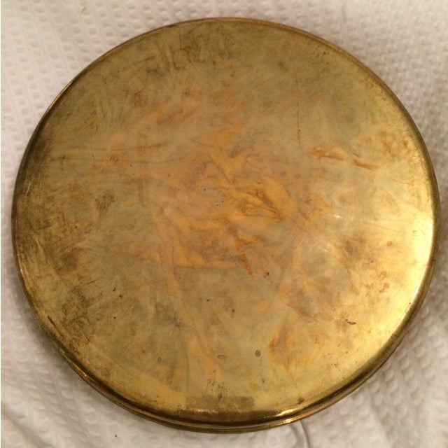 Vintage Brass Tray With Votive Candle Holders - Image 6 of 6