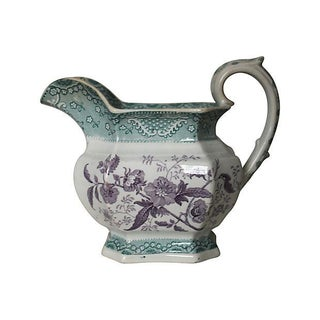 Antique French Transferware Pitcher
