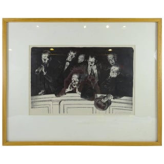 The Hecklers Lithograph by Joseph Hirsch