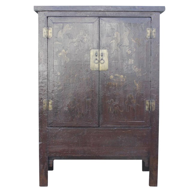 Red & Gilt Chinoserie Armoire - Image 1 of 7