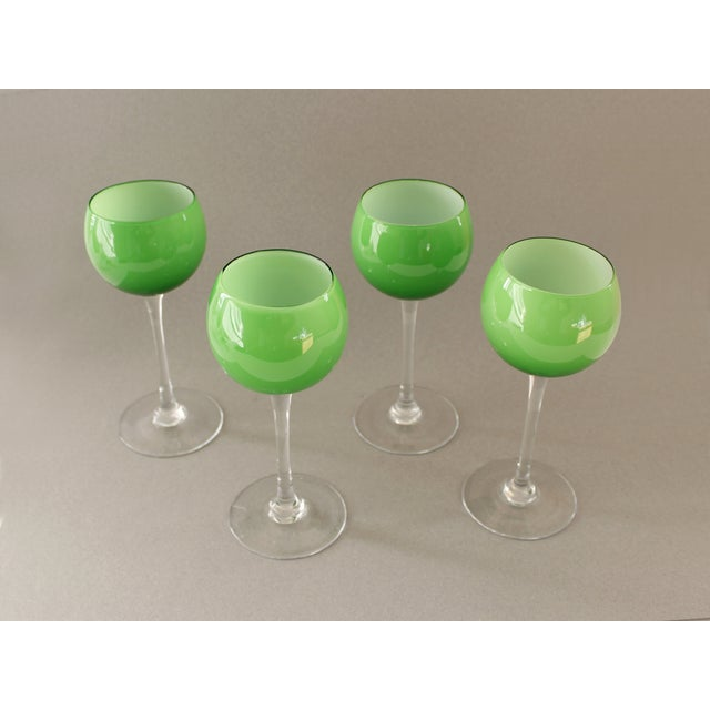 Image of Carlo Moretti Green Wine Goblets - Set of 4
