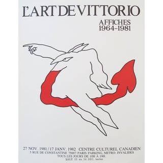 1981 Exhibition Poster, Vittorio