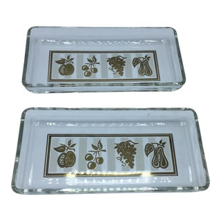 Georges Briard Glass Trays - A Pair