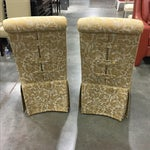 Image of Ornate Accent Chairs - A Pair