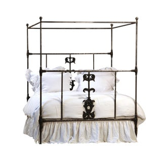 Cast Iron Canopy Cal King Bed Frame