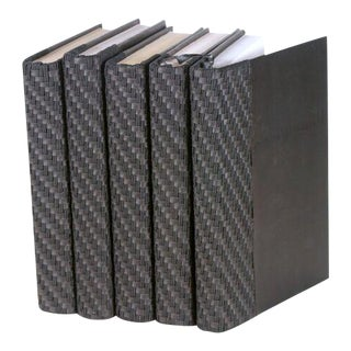 Italian Woven Black Books - Set of 5