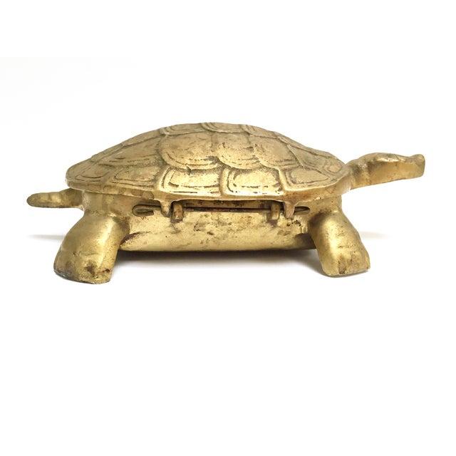 Antique Lidded Brass Turtle Trinket Box - Image 7 of 11