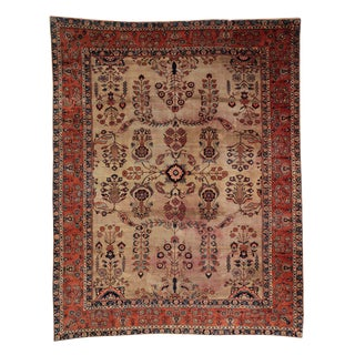 1920s Vintage Persian Sarouk Rug - 8′10″ × 11′8″